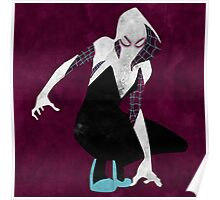 watercolor spider gwen Poster