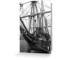 Old Sailing Ship BW Greeting Card