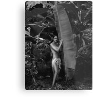 Girl in Tahiti Metal Print
