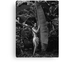 Girl in Tahiti Canvas Print