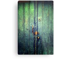 Blue Door In Avanos Metal Print