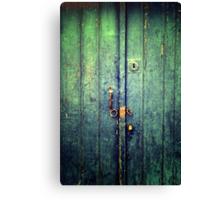 Blue Door In Avanos Canvas Print