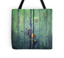 Blue Door In Avanos Tote Bag