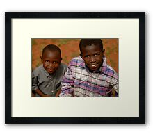 african boys Framed Print