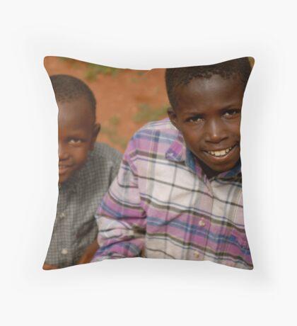 african boys Throw Pillow
