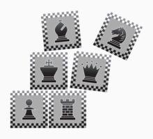 Chess - Black borders toppling Kids Tee