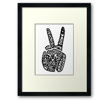Hand Drawn Peace Out Sign Framed Print