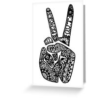 Hand Drawn Peace Out Sign Greeting Card