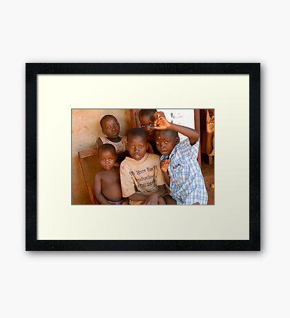boys fun Framed Print