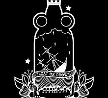 FLOAT OR DROWN CREST PRINT by Stoln  Clothing