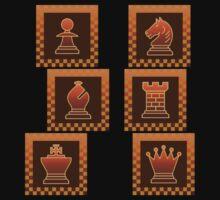 Chess - Brown borders columns Kids Tee