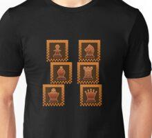 Chess - Brown borders columns Unisex T-Shirt