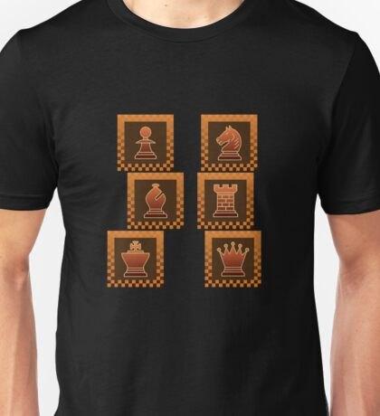 Chess - Brown borders columns T-Shirt