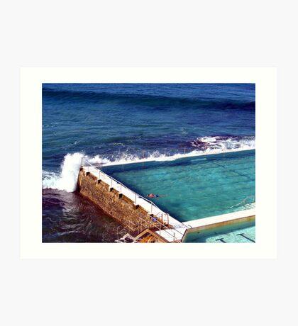 Icebergs Pool Art Print