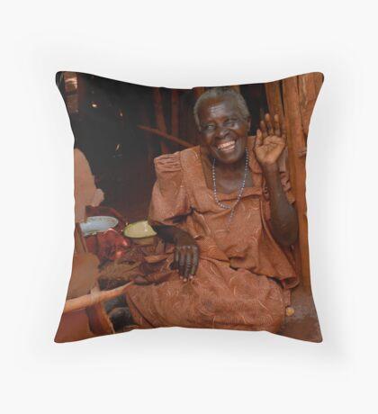 all smiles! Throw Pillow