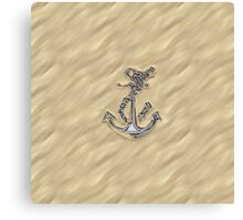 Chrome Anchor in Sand Canvas Print