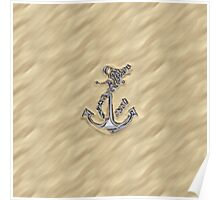 Chrome Anchor in Sand Poster