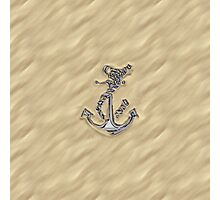 Chrome Anchor in Sand Photographic Print