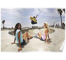 Two Girls One Skater Poster
