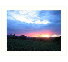 sunset-Malawi Art Print