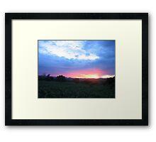 sunset-Malawi Framed Print