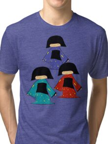 3 Japanese Girls Tri-blend T-Shirt
