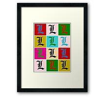 Pop L Framed Print