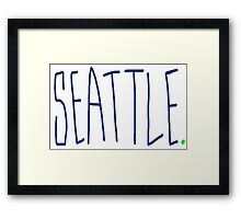 Seattle - City Scroll Framed Print