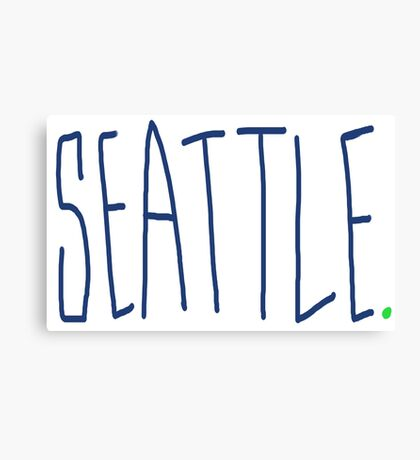 Seattle - City Scroll Canvas Print