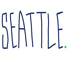Seattle - City Scroll Photographic Print