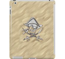 Chrome Pirate Crossbones in Sand iPad Case/Skin