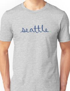 Seattle Cursive - City Scroll Unisex T-Shirt