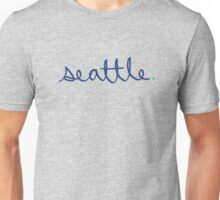 Seattle Cursive - City Scroll Unisex T-Shirt