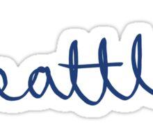 Seattle Cursive - City Scroll Sticker