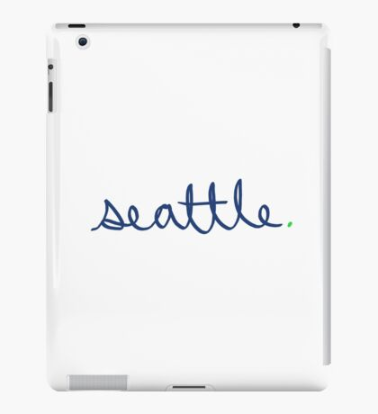 Seattle Cursive - City Scroll iPad Case/Skin