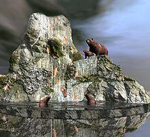 Climbing Hurdles At Salmon Falls by Lisa  Weber
