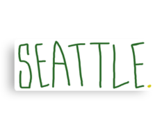 Seattle Supe - City Scroll Canvas Print