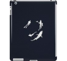 Chrome Style Nautical Diver N Sharks Applique iPad Case/Skin