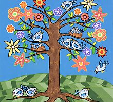 'Birdie Tree' - Inspired by Spring by Lisafrancesjudd