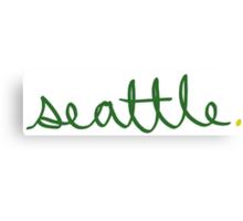 Seattle Supe Cursive - City Scroll Canvas Print