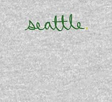 Seattle Supe Cursive - City Scroll Unisex T-Shirt