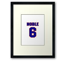 National baseball player Ray Noble jersey 6 Framed Print