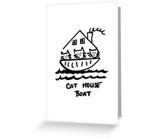 Cat House Boat (Version 2) Greeting Card