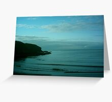 mull shore, aberdeenshire, scotland Greeting Card