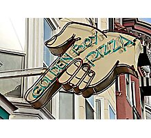 North Beach Sign Photographic Print