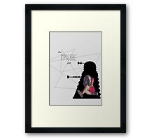 The Impossible Girl, Oswin Oswald - Doctor Who   #InfiniteTARDISMerch Framed Print