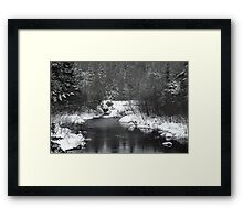 "Little Stream ""alive"" in the Deep Freeze :) Framed Print"