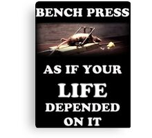 Bench Press - dark shirts Canvas Print