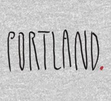 Portland - City Scroll by KirkParrish
