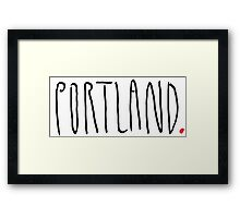 Portland - City Scroll Framed Print